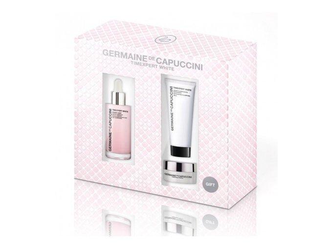Germaine de Capuccini Timexpert White Kiss Me Set - rozjasňující sérum 50ml + rozjasňující pleťové mléko 30ml + rozjasňující krém 15ml