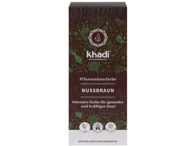 Khadi rostlinná barva na vlasy OŘECHOVĚ HNĚDÁ 100g