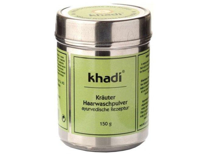 Khadi PRÁŠEK ZE SMĚSI BYLIN - ajurvédský šampon a intenzivní péče