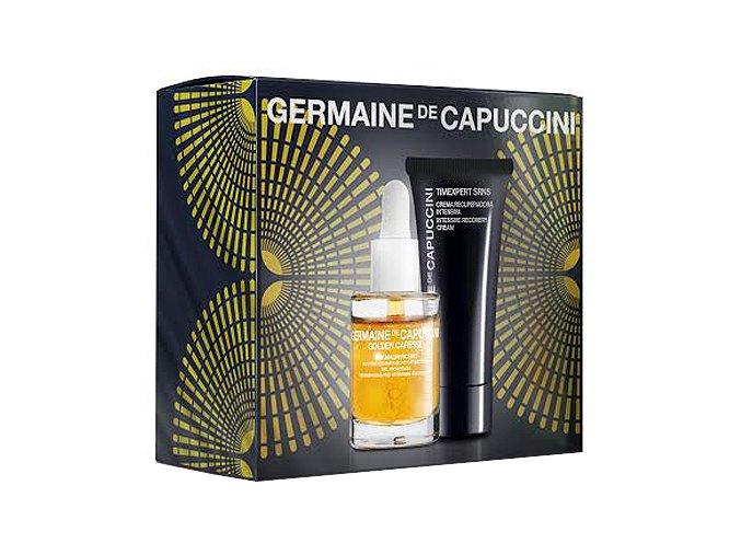 Germaine de Capuccini Golden Caresse Tan Magnificent Sada - aktivátor opálení na tělo i obličej 30ml +  krém pro intenzivní obnovu pleti 50ml