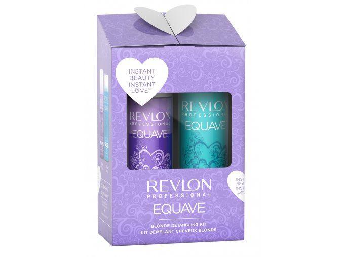 Revlon Professional Equave Blonde Set - bezoplachový kondicionér pro blond odstíny 200ml + hydratační šampon s keratinem 250ml