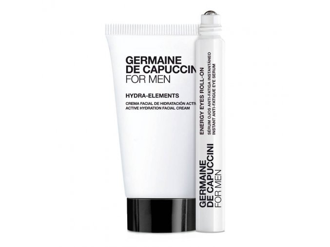 Germaine de Capuccini Men Hydra elements krém 50 ml + Roll on na oční okolí 10 ml Dárková sada
