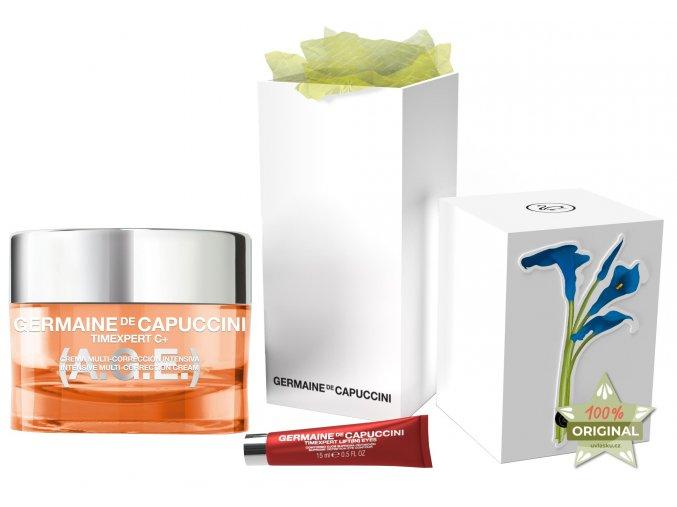 Germaine de Capuccini Timexpert C+ A.G.E. Set - krém s vitamínem C pro normální pleť 50ml + regenerační pleťový olej 15ml + Hippi kyselina hyaluronová na obličej 30ml
