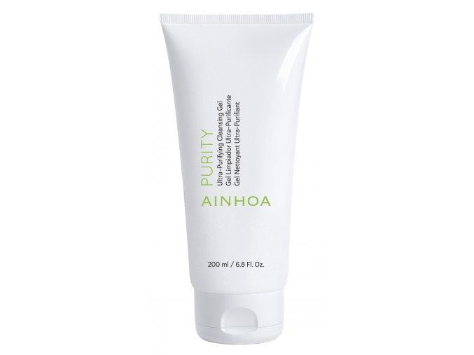 Ainhoa Purity Ultra-Purifying Cleansing Gel - čisticí gel pro mastnou pleť s nedokonalostmi 200ml