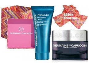 Germaine de Capuccini Timexpert Srns Life In Colours Summer Set - krém pro intenzivní obnovu pleti 50ml + hydratační pleťové sérum 30ml + šátek + kabelka