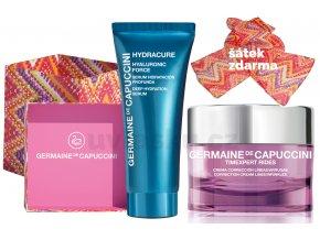 Germaine de Capuccini Timexpert Rides Life In Colours Summer Set - protivráskový krém pro suchou pleť 50ml + hydratační pleťové sérum 30ml + šátek