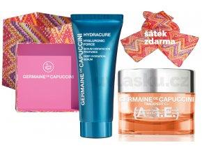 Germaine de Capuccini Timexpert C+ A.G.E. Life In Colours Set - krém s vitamínem C na normální pleť 50ml + hydratační pleťové sérum 30ml + šátek + kabelka