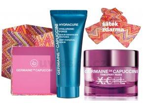 Germaine de Capuccini Timexpert Rides X.Cel Life In Colours Summer Set - pleťový krém proti vráskám 50ml + hydratační pleťové sérum 30ml + šátek