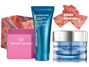 Germaine de Capuccini Excel Therapy O2 Life In Colours Summer Set - okysličující krém na suchou pleť 50ml + hydratační pleťové sérum 30ml + šátek