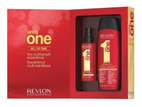 Uniq One Set - regenerační sprej na vlasy 150ml + šampon a kondicionér v jednom 300ml