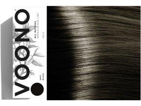 Voono Henna Soft Black - rostlinná barva na vlasy černá 100g