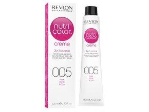 Revlon Professional Nutri Color Creme 005 Pink - barevná maska na vlasy odstín růžová 100ml
