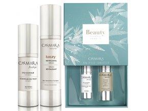 Casmara Beauty Moments Set - revitalizační pleťové sérum 30ml + protivráskový krém na oční okolí 15ml + Hippi kyselina hyaluronová 30ml