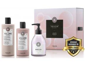 Maria Nila Pure Volume Set - šampon pro objem jemných vlasů 350ml + hydratační kondicionér na jemné vlasy 300ml + tekuté mýdlo 300ml