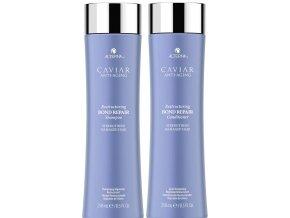 Alterna Caviar Restructuring Bond Repair Duo - obnovující šampon na poškozené vlasy 250ml + obnovující kondicionér na poškozené a oslabené vlasy 250ml