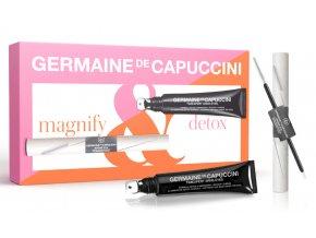 Germaine de Capuccini Timexpert Srns Set – krém proti kruhům a váčkům pod očima 15ml + černá tužka na oči + neceser
