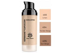Germaine de Capuccini Everlasting Make-Up SPF25 – dlouhotrvající make-up pro normální a smíšenou pleť 30ml