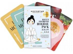 Kocostar Holiday Pack – maska na ruce 14ml + maska na nohy 14ml + maska na oční okolí 3g + pleťová maska jablko 20ml + pleťová maska rajče 20ml