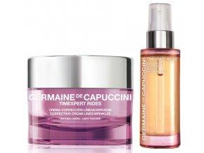 Germaine de Capuccini Timexpert Rides Set - krém pro normální a smíšenou pleť proti vráskám 50ml + regenerační pleťový olej 30ml