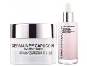 Germaine de Capuccini Timexpert White Set – rozjasňující sérum proti pigmentovým skvrnám 50ml + rozjasňující pleťový krém 50ml