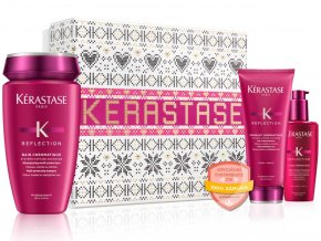 Kérastase Réflection Chromatique Christmas Set – šampon na barvené vlasy 250ml + lehký kondicionér na barvené vlasy 200ml + ochranný fluid na barvené vlasy 125ml