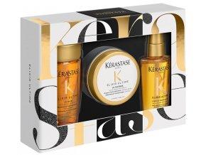 Kérastase Elixir Ultime Travel Set – olejový šampon pro všechny typy vlasů 80ml + zkrášlující maska na vlasy 75ml + pečující olej na vlasy 50ml
