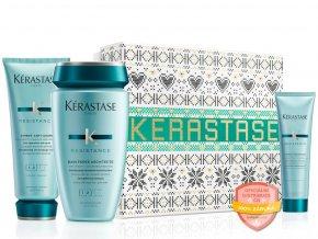 Kérastase Résistance Force Architecte Christmas Set – šampon na poškozené vlasy 250ml + posilující kondicionér na vlasy 200ml + mléko s termo ochranou pro oslabené vlasy 150ml