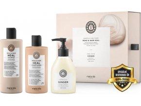 Maria Nila Head & Heal Holiday Box Set – šampon proti lupům a padání vlasů 350ml + kondicionér proti lupům a padání vlasů 300ml + zázvorový krém na ruce 300ml5