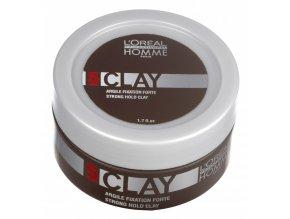 Loréal Homme Clay - pánská fixační pasta s matným efektem 50ml