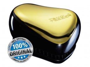 Tangle Teezer Compact Gold Fever - kompaktní kartáč na vlasy