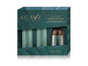 Bio Ionic AGAVE Smoothing Trio - uhlazující šampon 118ml + uhlazující kondicionér 118ml + regenerační olej 59ml