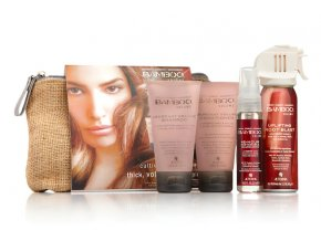 Alterna BAMBOO Volume Travel Set - šampon 40ml + kondicionér 40ml + tužicí sprej pro objem 25ml + tužidlo 62g