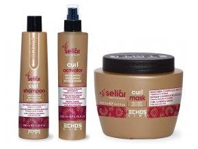 Echosline SELIAR Curl Kit  – šampon 350ml + maska 500ml + aktivátor 200ml
