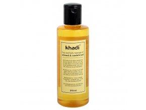 Khadi pleťový a tělový olej Santalové Dřevo & Mandle 210ml