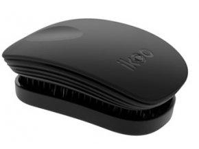 Ikoo CLASIC COLLECTION Pocket Black - kartáč na rozčesávání vlasů 1ks