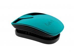 Ikoo METALLIC COLLECTION Pocket Pacific/Black - kartáč na rozčesávání vlasů 1ks