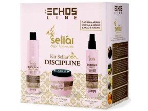 Echosline SELIAR Discipline Set - uhlazující šampon 350ml + uhlazující maska 500ml + uhlazující sprej 200ml