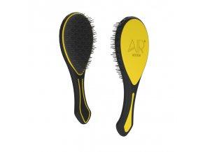 AIR MOTION Brush Yellow – žlutý revoluční kartáč, který netahá vlasy 1ks