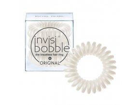 Invisibobble ORIGINAL Royal Pearl - gumička do vlasů perleťově bílá 3ks