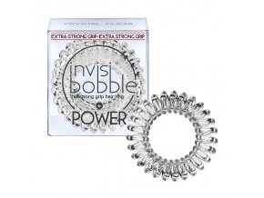Invisibobble POWER Crystal Clear - gumička do vlasů transparentní 3ks
