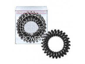 Invisibobble POWER True Black - gumička do vlasů černá 3ks