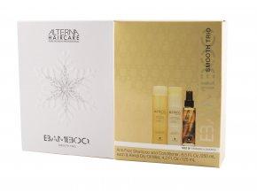 Alterna BAMBOO Smooth Trio - uhlazující šampon pro nepoddajné vlasy 250ml + kondicionér proti krepatění vlasů 250ml + ochranný sprej 125ml