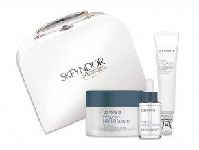 Skeyndor Power Hyaluronic Set - hydratační krém pro suchou pleť 50ml + gel na oční okolí 15ml + hydratační sérum 15ml