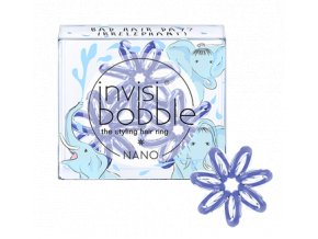 Invisibobble NANO Circus Collection Irrelephant Blue - gumička do vlasů světle modrá 3ks