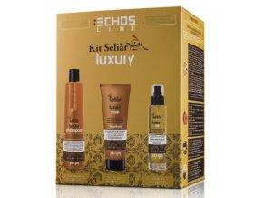 Echosline Seliar Luxury Sada - šampon pro suché vlasy 350ml + hydratační maska 300ml + olej pro suché vlasy 100ml
