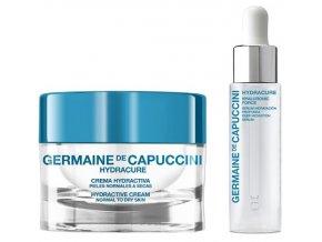Germaine de Capuccini Hydracure Sada - hydratační pleťové sérum s kyselinou hyaluronovou 30ml + hydroaktivní krém pro normální a suchou pleť 50ml