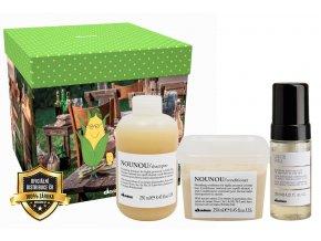 Davines Essential Nounou Tempting Box Set - šampon na suché vlasy 250ml + kondicionér na suché vlasy 250ml + vlasový fluid 125ml
