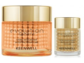 Keenwell Evolution Sphere Hydro-Antioxidant Multifunctional Sada - pleťový krém s vitamínem C 80ml + rozjasňující krém na oční okolí 15ml