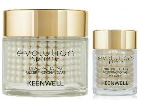 Keenwell Evolution Sphere Hydro-Protecting Multifunctional Sada - hydratační krém pro všechny typy pleti 80ml + hydratační krém na oční okolí 15ml