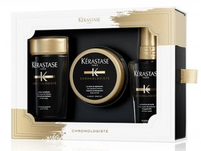 Kérastase Chronologiste Christmas Discovery Sada - revitalizační šampon pro všechny typy vlasů 80ml + revitalizační maska pro všechny typy vlasů 75ml + parfémovaný olej na vlasy 50ml